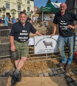 Richard Spencer (organiser) & James Metcalfe (Sheep Talker)